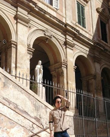 OOTD vintage at Parrocchia Sant'Eusebio all'Esquilino
