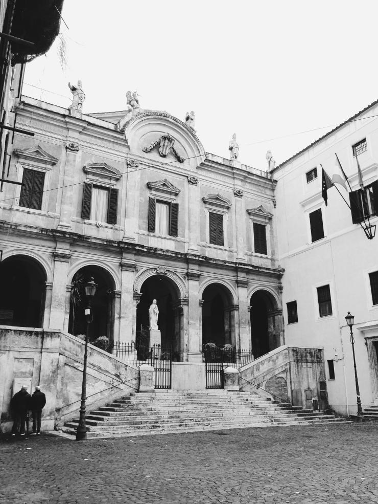 Parrocchia Sant'Eusebio all'Esquilino Facade BW