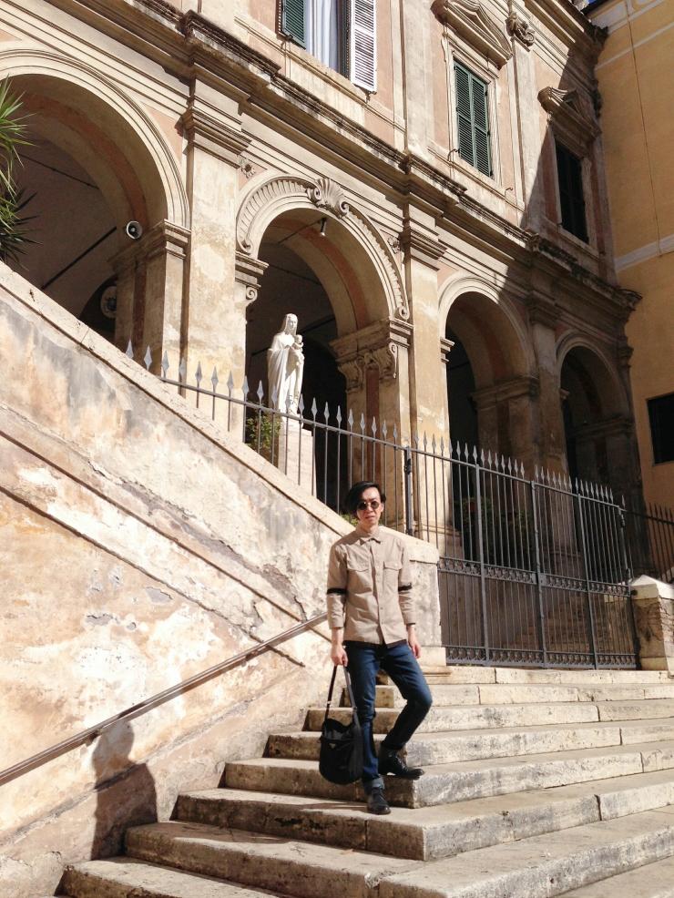 Street style at Parrocchia Sant'Eusebio all'Esquilino Rome