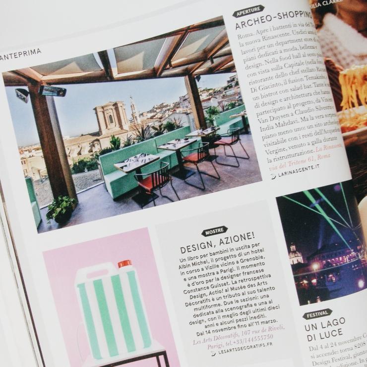 Living magazine Corriere della sera La Rinascente Rome Roma Launch