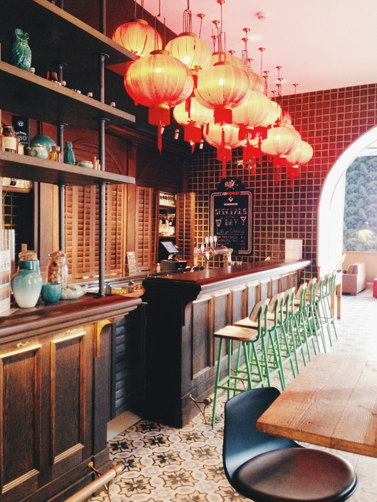Generator Hostel Rome bar stools