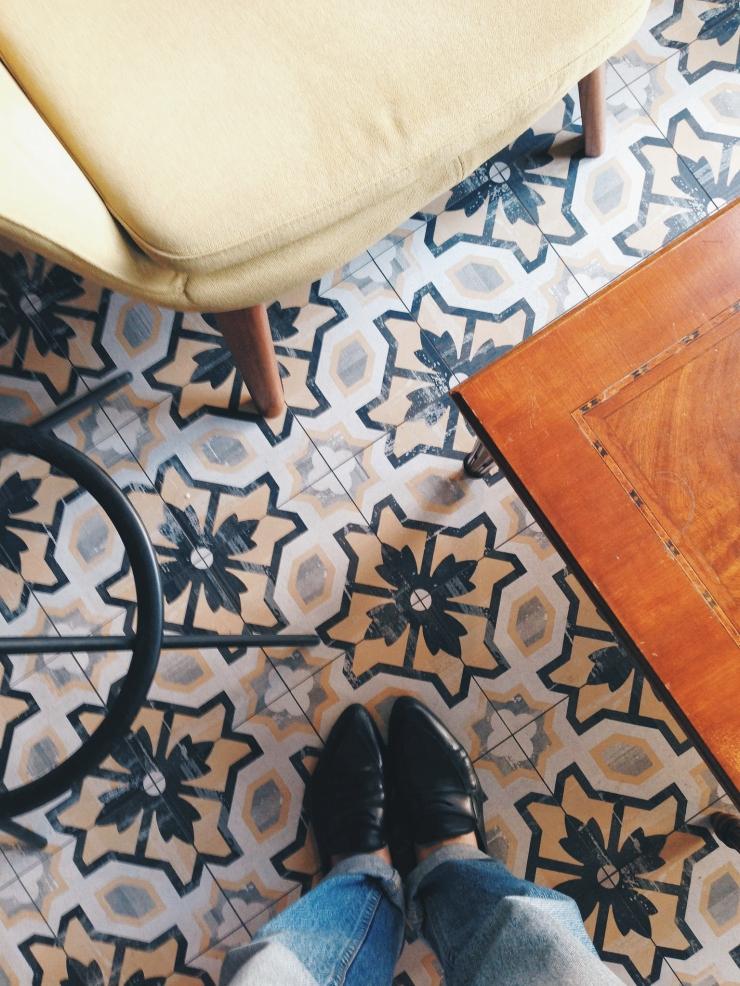 Generator Hostel Rome lobby floor tiles