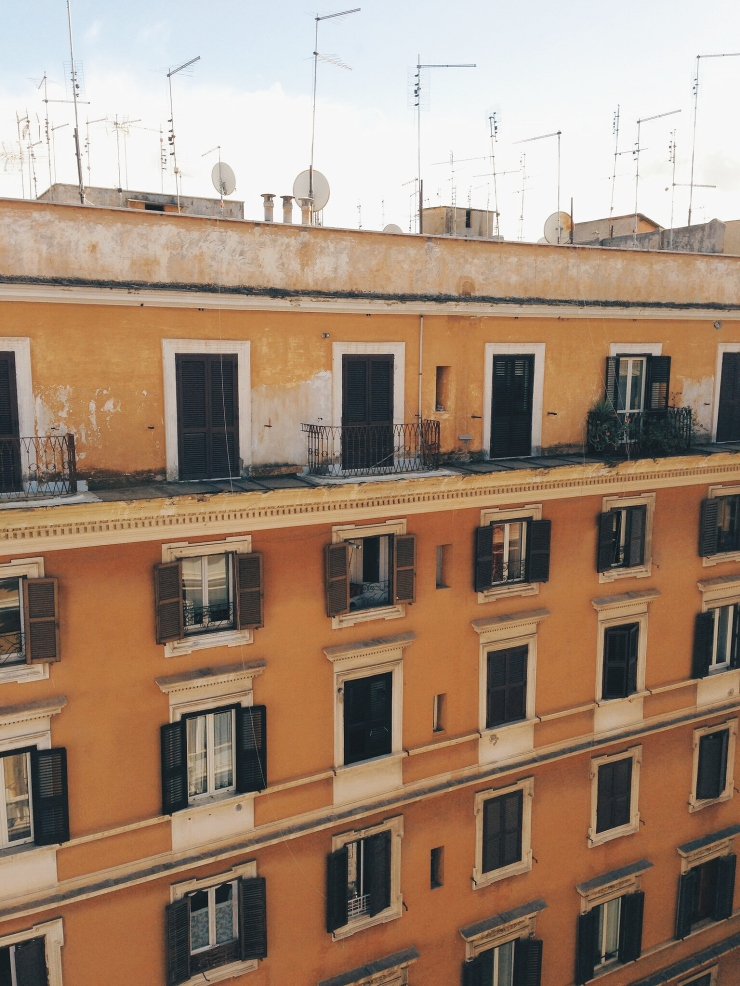 Generator Hostel Rome view from room window