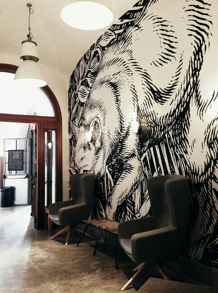 Generator Hostel Rome waiting area lobby