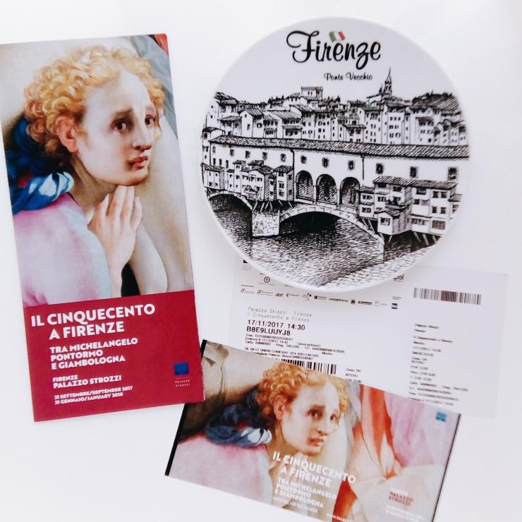 Palazzo Strozzi Firenze 500 exhibition program and ticket
