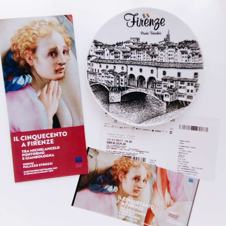 Palazzo Strozzi Firenze 500 exhibition program and ticket