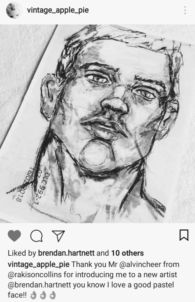 Brendan Hartnett Untitled postcard on Instagram