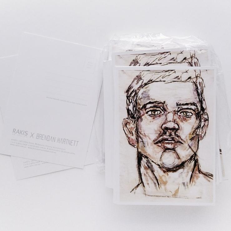 Brendan Hartnett artist postcard