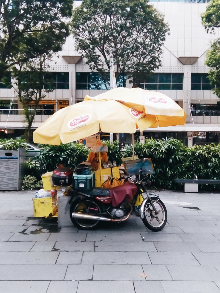 Orchard Road old school vintage ice cream cart kiosk in Singapore