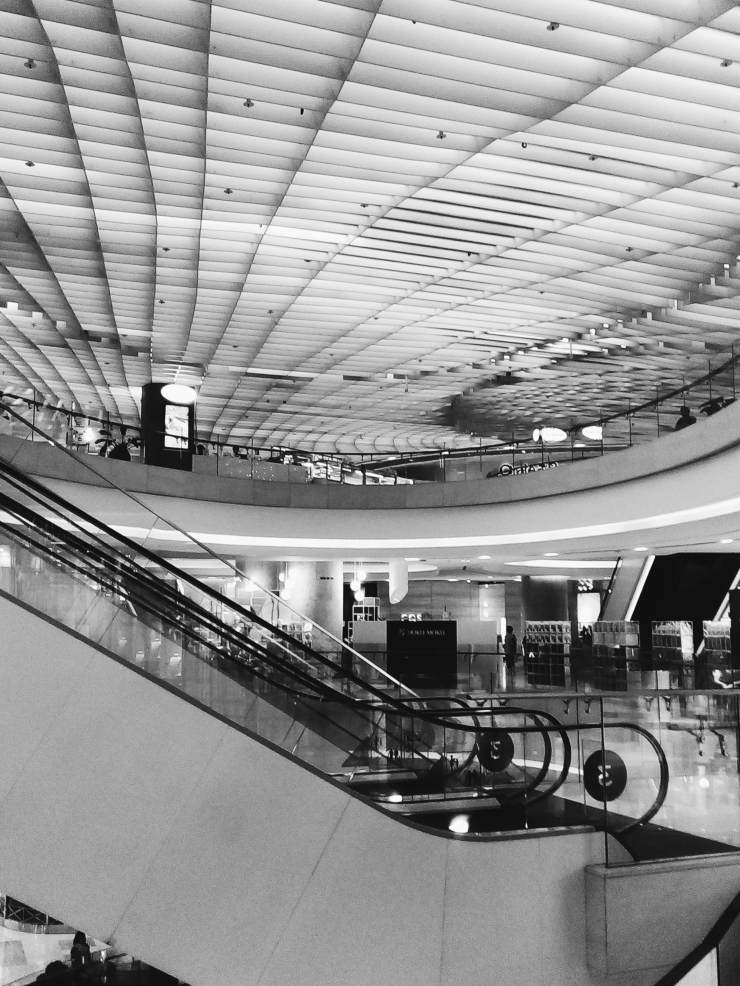 ION Orchard shopping mall escalators Singapore