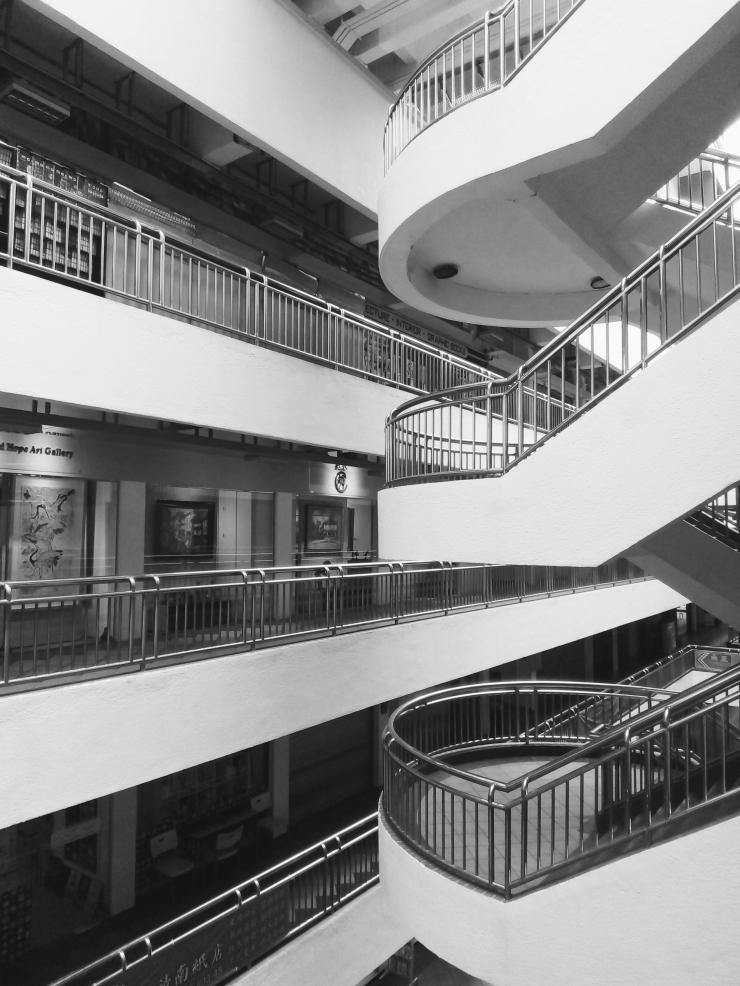 Bras Basah Complex Singapore circular staircases