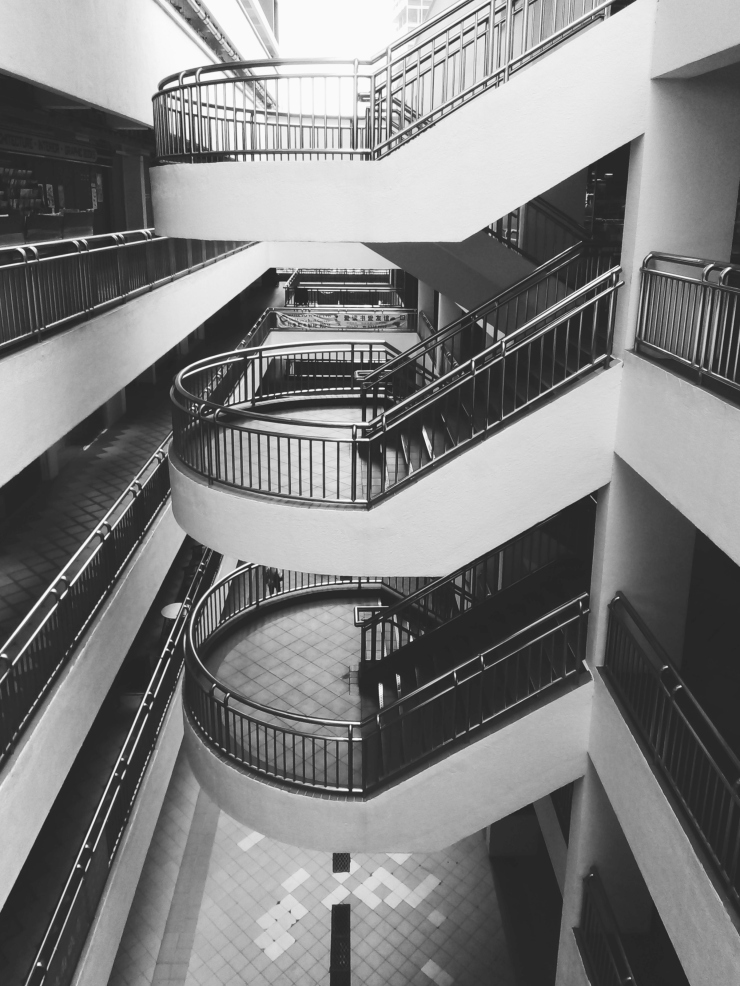Bras Basah Complex Singapore staircases