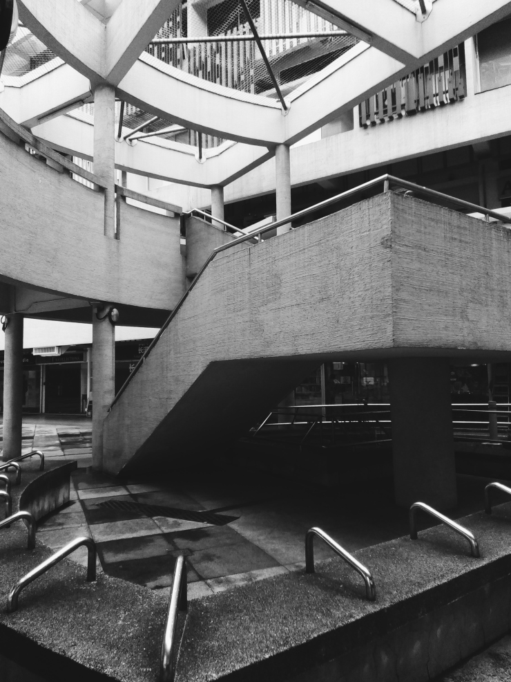 Bras Basah Complex brutalist architecture details