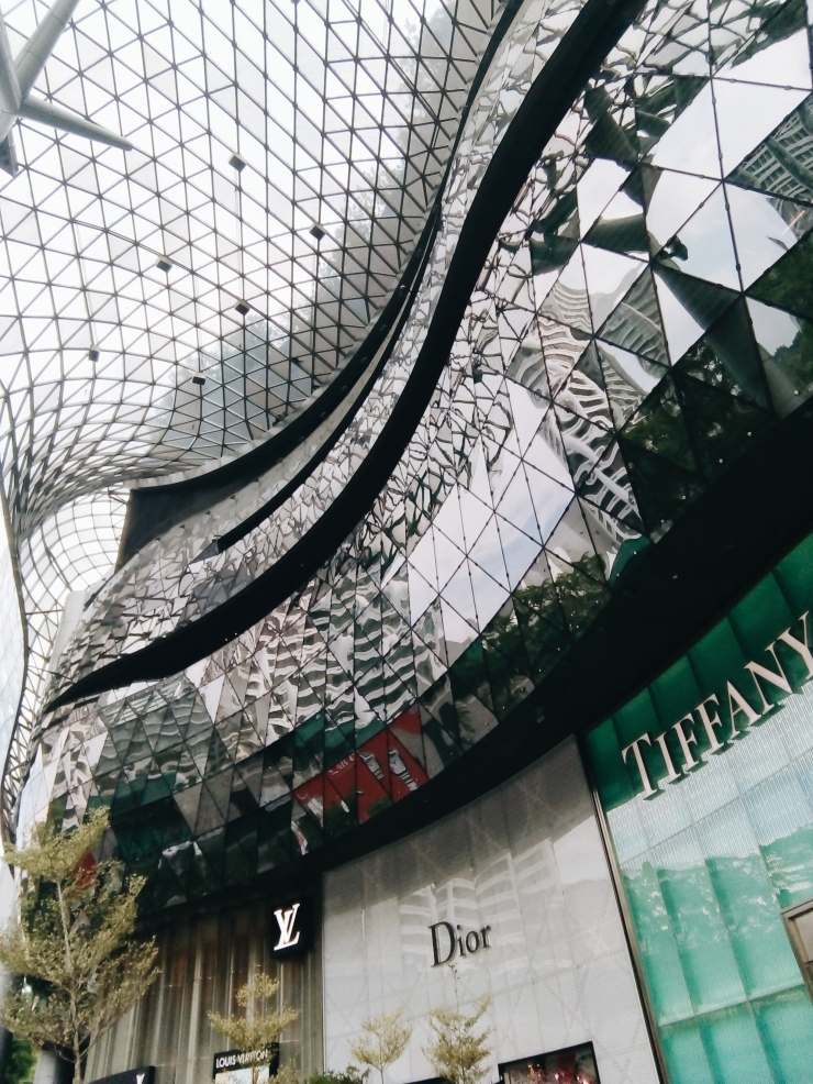 ION Orchard shopping mall glass roof ceiling architecture Singapore