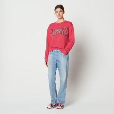 Sandro_Paris Chadstone Happening Pink Fuschia sweat shirt on sale Full Body