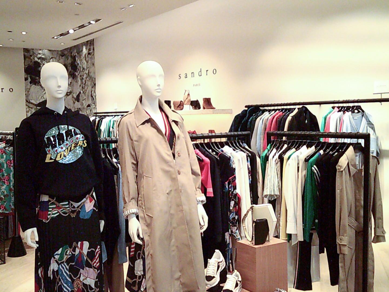 Sandro Paris Chadstone boutique store interior