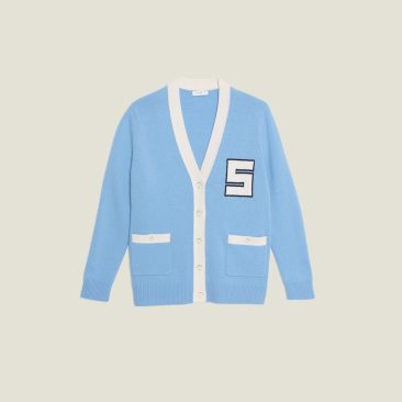 Sandro Paris Chadstone Melbourne Spring Summer 2020 Sky blue cardigan product
