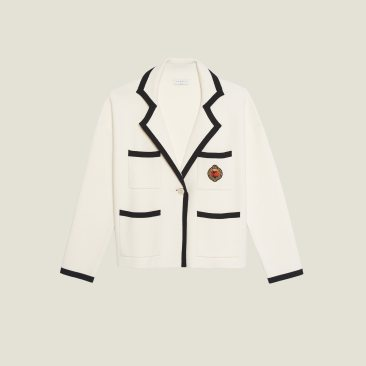 Sandro Paris Chadstone Melbourne Spring Summer 2020 White oversized jacket cardigan product