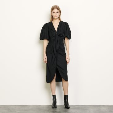 Chadstone SFPRO00930BLACK_5__Linen tie dress $258
