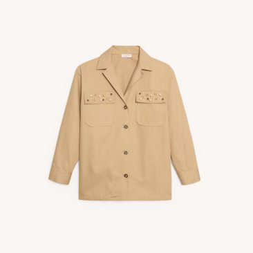Chadstone SFPVE00399BEIGE_9__Embellished shirt jacket $312.50