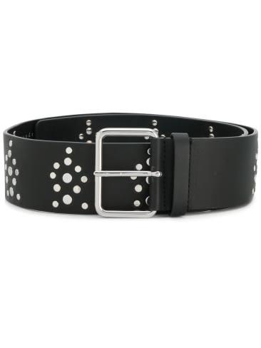 Sandro Paris Black Leather belt with studs $155 Chadstone