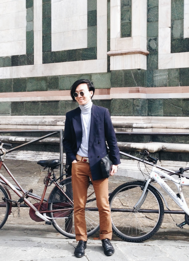 Alvin Chia Melbourne in Florence Italy Duomo 2016 Street Style Stylist