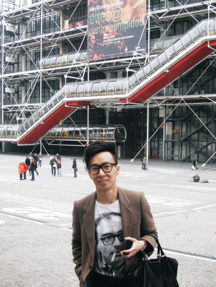 Alvin Chia Melbourne in Paris Centre Pompidou 2009 Street Style Stylist