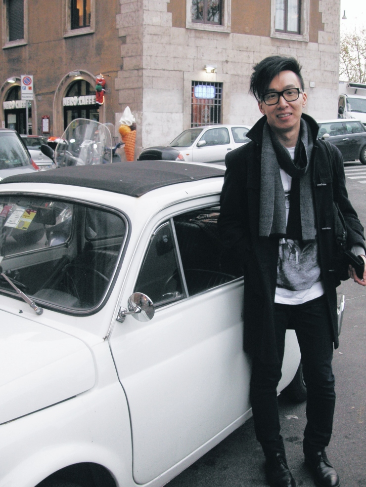 Alvin Chia Melbourne in Rome Roma 2008 Street Style Stylist