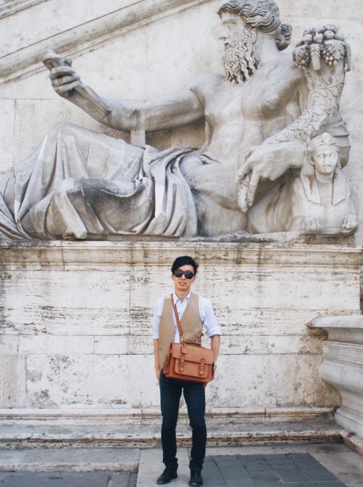 Alvin Chia Melbourne in Rome Roma Campidoglio 2007 Street Style Stylist