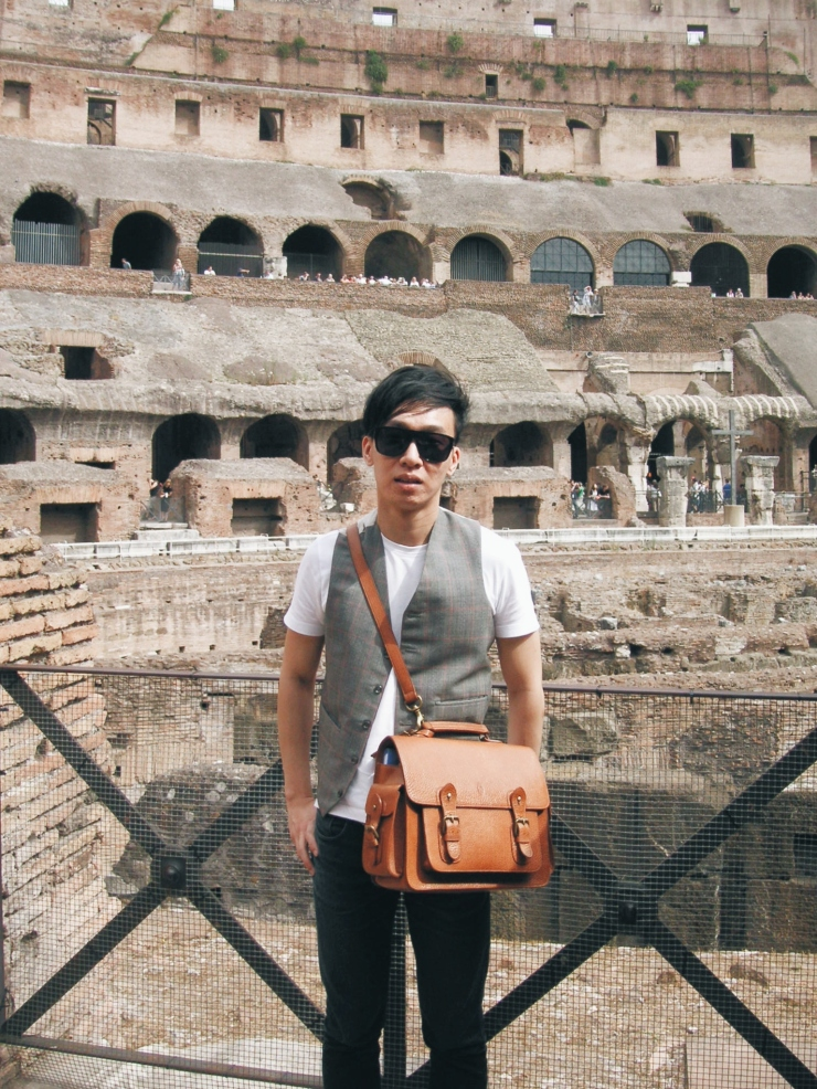 Alvin Chia Melbourne in Rome Roma Colosseum 2007 Street Style Stylist