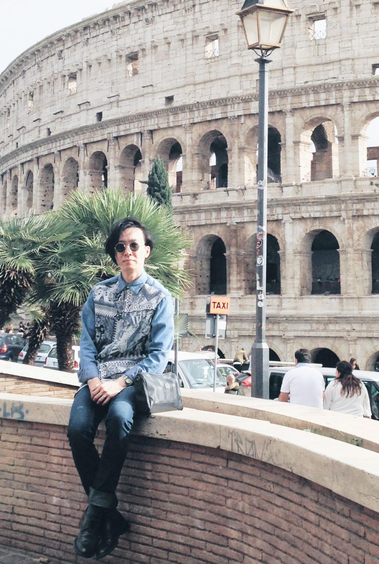 Alvin Chia Melbourne in Rome Roma Colosseum 2016 Street Style Stylist