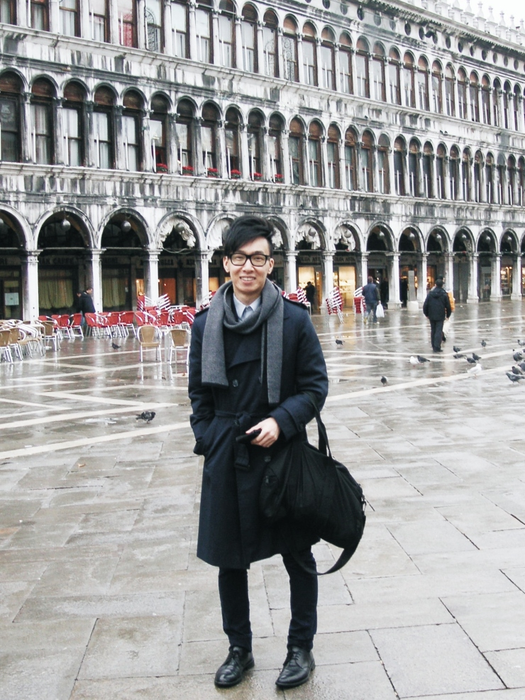 Alvin Chia Melbourne in Venice Piazza San Marco 2008 Street Style Stylist